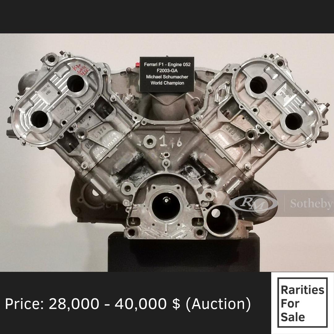 Ferrari F1 F2003-GA Engine At RM Sotheby's Auction